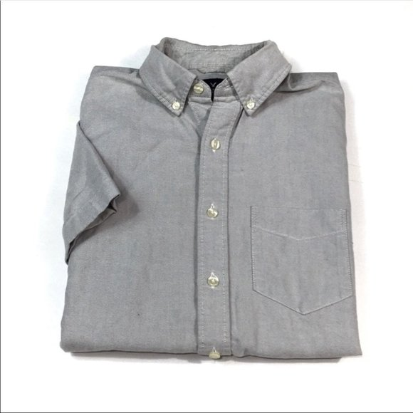 BF78 American Eagle Classic Fit Button Shirt L